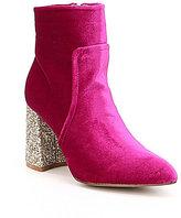 Betsey Johnson Kacey Velvet Glitter Heel Booties