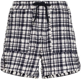 Solid & Striped Gingham-Print Shorts