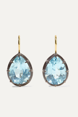 Fred Leighton Collection 18-karat Gold, Sterling Silver And Topaz Earrings - one size