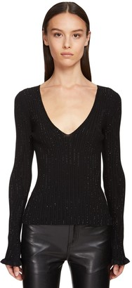 Ermanno Scervino Viscose Blend Knit Sweater W/Crystals