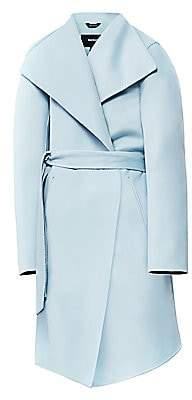 Mackage Women's Laila Leather-Trim Wool Coat