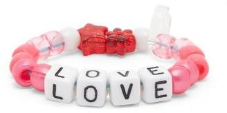 LAUREN RUBINSKI Love Beaded Bracelet - Pink