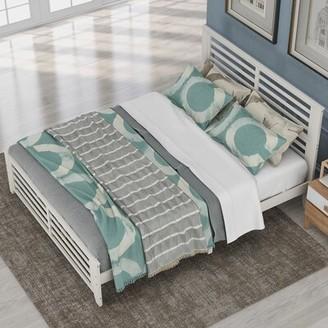 Red Barrel Studio Bibbie Platform Bed Size: Queen, Color: White
