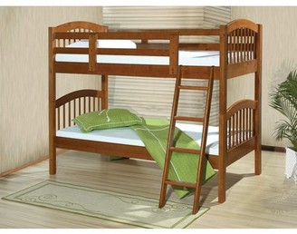 ACME Furniture ACME Manville Twin over Twin Bunk Bed in Honey Oak, Multiple Colors