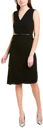 Max Mara Silk-Trim Sheath Dress