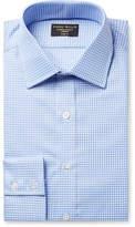 Emma Willis Blue Slim-Fit Gingham Cotton Oxford Shirt