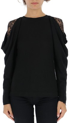 Alberta Ferretti Lace Detail Sweater