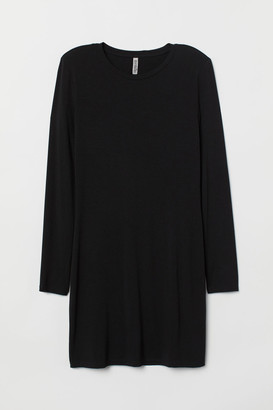 H&M Dress with Shoulder Pads - Black