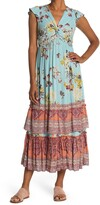 Thumbnail for your product : Angie Twist Front Ruffle Sleeve Maxi Dress