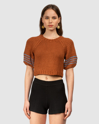The Wolf Gang Bonbonera Stripe Crop Knit