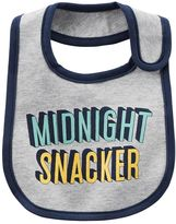 Carter's Baby Boy Solid-Trim Graphic Bib