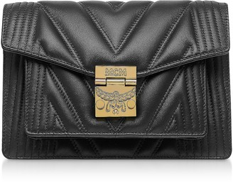 MCM Black Quilted Leather Patricia Crossbody Bag