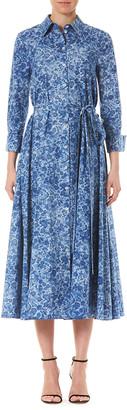 Carolina Herrera Floral-Print Cotton Shirtdress