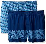 Tommy Bahama Men's 2 Pack Palm and Trees Floral Border Knit Boxer Set