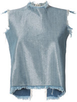 Marques Almeida Marques'almeida - denim tank top - women - Cotton/Polyester/Rayon - L