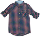 7 For All Mankind Roll-Tab Poplin Button-Up Shirt