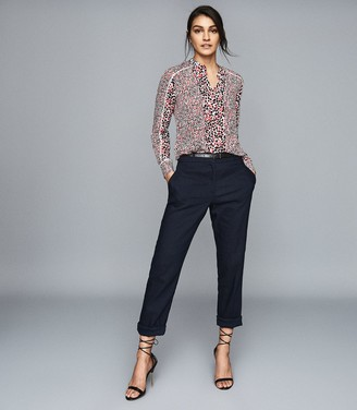 Reiss OTTILIE FLORAL PRINTED BLOUSE Red