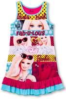 Mattel Little Girls' Barbie Tank Nightgown S 6/6X