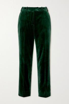 Cefinn Tatum Cropped Cotton-velvet Slim-leg Pants