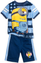 Nannette Minions T-Shirt & Shorts Set, Toddler & Little Boys (2T-7)