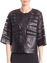 Lafayette 148 New York Sabina Leather Jacket