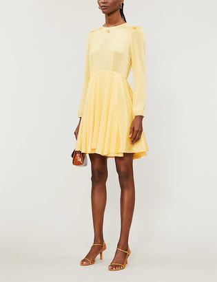 Maje Roseau embroidered-pattern woven mini dress