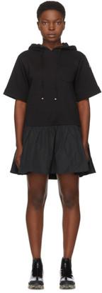 Moncler Black Hoodie Short Dress