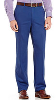 Hart Schaffner Marx New York Modern-Fit Flat-Front Solid Wool Dress Pants