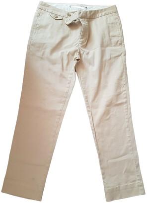 Ralph Lauren Beige Cotton Trousers for Women