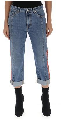 Alexander McQueen Side Striped Boyfriend Jeans