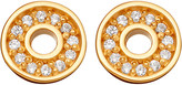 Astley Clarke Mini open halo biography 18ct yellow gold-plated stud earrings