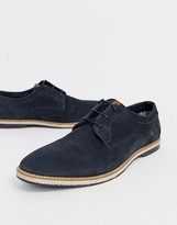 Base London Kinch lace ups in navy suede