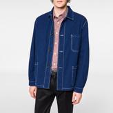 Paul Smith Men's Indigo-Dyed Seersucker Chore Jacket