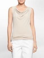 Calvin Klein Solid Cowl Neck Sleeveless Top