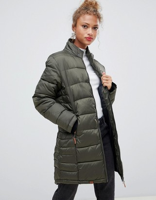 Blend She Dodi tube quilted longline coat