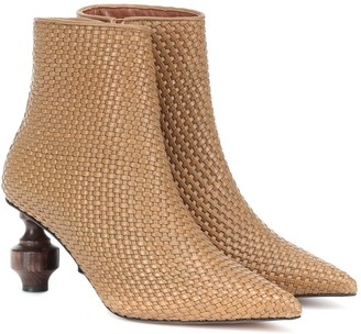 Souliers Martinez Viernes 80 leather ankle boots