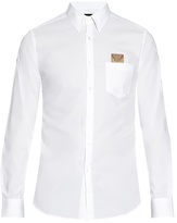 Fendi Bag Bugs-pocket Cotton-poplin Shirt