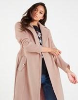 boohoo Belted Wool Look Coat