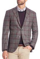 Corneliani Leader Windowpane Wool-Cashmere Sportcoat