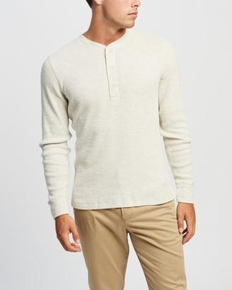 Ralph Lauren RRL Waffle-Knit Henley Shirt