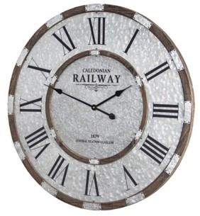 Crystal Art Gallery American Art Decor Caledonian Railway Glasgow Oversized Wall Clock