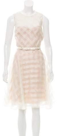 Marchesa Silk Midi Dress