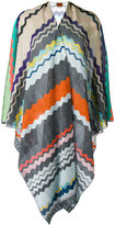 Missoni striped cape - women - Polyester/Cupro/Rayon - One Size