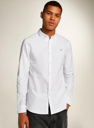 Farah TopmanTopman White 'Brewer' Slim Long Sleeve Shirt*