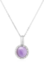 Tagliamonte Mia & Beverly Amethyst and Diamond 18K Gold Charm Necklace