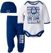 Baby Indianapolis Colts 3-Piece Bodysuit, Pants & Cap Set
