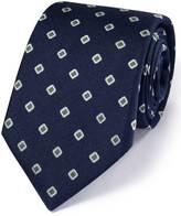 Navy Silk Classic Oxford Square Tie