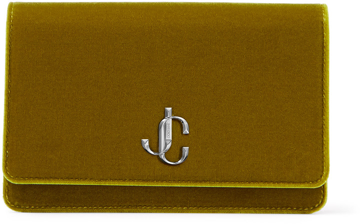 Jimmy Choo PALACE Citrus Velvet Mini Bag with JC Emblem