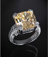 canary crystal and diamond 'Fontaine' ring