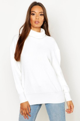 boohoo Roll Neck Knitted Oversized Sweater